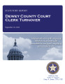 COUNTY OFFICER TURNOVER STATUTORY REPORT NANCY LOUTHAN DEWEY COUNTY COURT CLERK SEPTEMBER 19, 2012