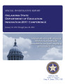 OKLAHOMA STATE DEPARTMENT OF EDUCATION SPECIAL INVESTIGATIVE REPORT INNOVATION 2011 CONFERENCE