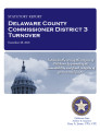 County officer turnover statutory report, Delaware County Commissioner District 3.