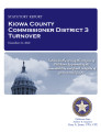 County officer turnover statutory report, Kiowa County Commissioner District 3.