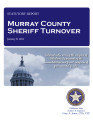 COUNTY OFFICER TURNOVER STATUTORY REPORT DARIN ROGERS MURRAY COUNTY SHERIFF JANUARY 8, 2013