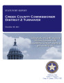 COUNTY OFFICER TURNOVER STATUTORY REPORT JOHNNY BURKE CREEK COUNTY COMMISSIONER DISTRICT 2...