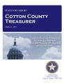 County treasurer, Cotton County, Oklahoma, treasurer statutory report.