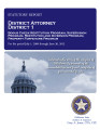 JAMES M. BORING, DISTRICT ATTORNEY DISTRICT 1 STATUTORY REPORT BOGUS CHECK RESTITUTION PROGRAM...