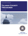 KIM LAMB, COUNTY TREASURER TILLMAN COUNTY, OKLAHOMA TREASURER STATUTORY REPORT FEBRUARY 8, 2013