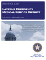 LAVERNE EMERGENCY MEDICAL SERVICE DISTRICT OPERATIONAL AUDIT FOR THE PERIOD JULY 1, 2008 THROUGH...