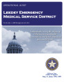 LEEDEY EMERGENCY MEDICAL SERVICE DISTRICT OPERATIONAL AUDIT FOR THE PERIOD JULY 1, 2008 THROUGH...