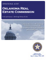 Audit Report of the Oklahoma Real Estate Commission For the Period January 1, 2009 through...