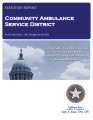 COMMUNITY AMBULANCE SERVICE DISTRICT STATUTORY REPORT FOR THE PERIOD JULY 1, 2011 THROUGH JUNE 30,...