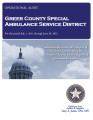 GREER COUNTY SPECIAL AMBULANCE SERVICE DISTRICT OPERATIONAL AUDIT FOR THE PERIOD OF JULY 1, 2011...