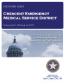 CRESCENT EMERGENCY MEDICAL SERVICE DISTRICT STATUTORY REPORT FOR THE PERIOD JULY 1, 2009 THROUGH...