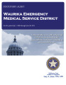 WAURIKA EMERGENCY MEDICAL SERVICE DISTRICT STATUTORY REPORT FOR THE PERIOD JULY 1, 2009 THROUGH...
