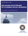 Audit Report of the Oklahoma State Board of Licensed Social Workers For the Period July 1, 2012...