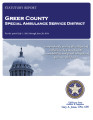GREER COUNTY SPECIAL AMBULANCE SERVICE DISTRICT STATUTORY REPORT FOR THE PERIOD JULY 1, 2012...