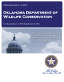 Audit Report of the Oklahoma Department of Wildlife Conservation For the Period July 1, 2012...