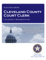 Court clerk, Cleveland County, Oklahoma statutory report.