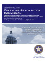 Audit report of the Oklahoma Aeronautics Commission, University of Oklahoma - Project number...