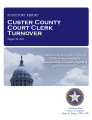 County officer turnover statutory report, Custer County court clerk.