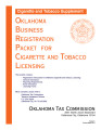 Oklahoma Business Registration Packet for Cigarette and Tobacco Licensing