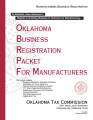 Oklahoma Business Registration Packet for Manufacturers
