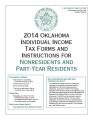 Individual Income Tax Forms and Instructions for Nonresidents and Part-Year Residents