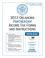 2013 Partnership Income Tax Forms and Instructions