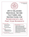 2013 Individual Income Tax Forms and Instructions for Nonresidents and Part-Year Residents