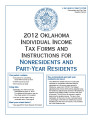 Individual Income Tax Forms and Instruction for Nonresidents and Part-Year Residents