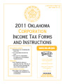 2011 Corporation Income Tax Forms and Instructions