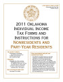 2011 Individual Income Tax Forms and Instructions for Nonresidents and Part-Year Residents