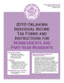 2010 Oklahoma Individual Income Tax Forms and Instructions for Nonresidents and Part-Year Residents