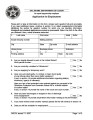 Human Resources Oklahoma Department of Labor Application for Employment