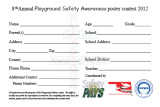 2012 Playground Safety Awareness Poster Contest Entry Form