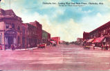 Chickasha Ave., Looking West from Bank Corner, Chickasha, Okla.
