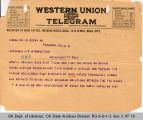 Telegram F. E. Christian,...