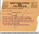 Telegram Marlene Pew, General...