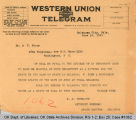 Telegram S. P. Freeling, Attorney...