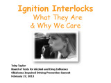 Ignition interlocks 1