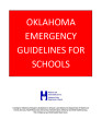 Emergency Guidelines for Schools 1