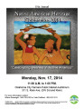 17th Annual Native American Heritage Celebration Flier