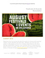 August 2018 Festivals & Events...
